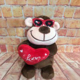 PELUCHE CORAZÓN LOVE  RF 1027 MONITO LOVE