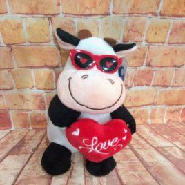 PELUCHE CORAZÓN LOVE  RF 1027 VAQUITA LOVE
