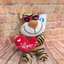PELUCHE CORAZÓN LOVE  RF 1027 TIGER LOVE
